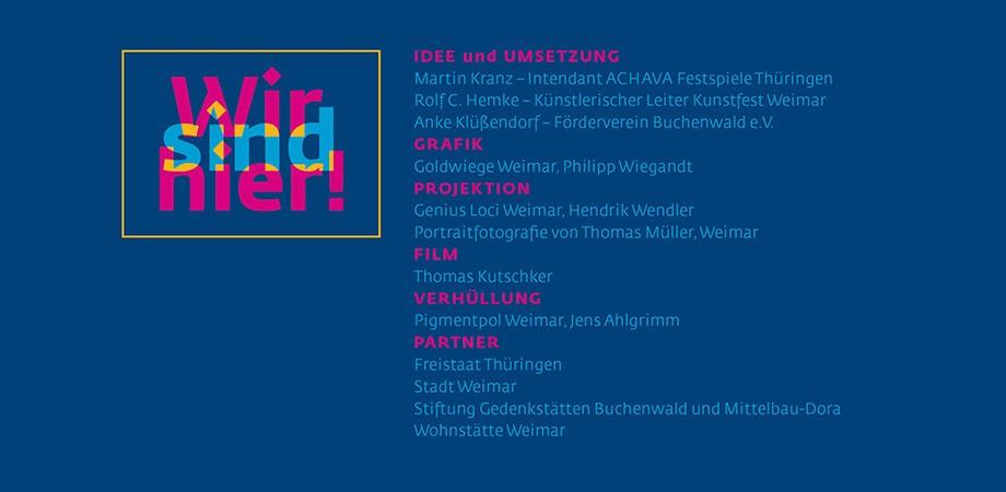 WIR SIND HIER … Rathaus-Verhüllung mit dem Buchenwaldtor 2020