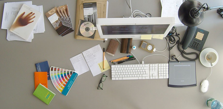Alex' Schreibtisch