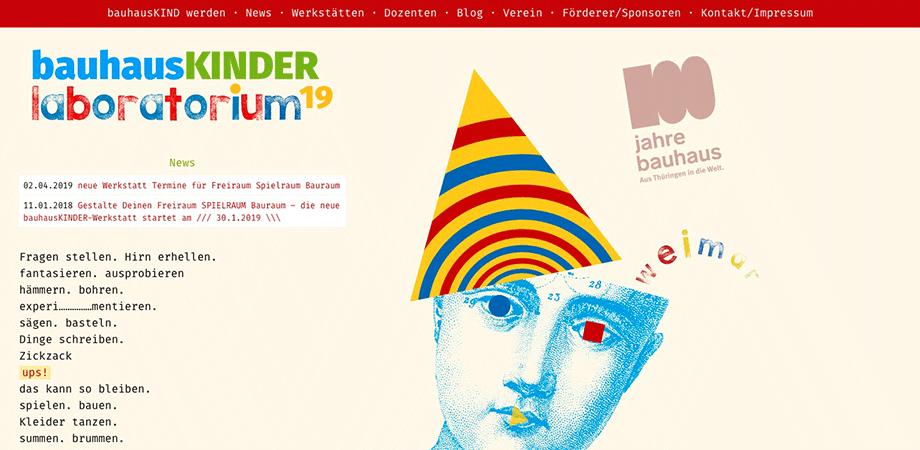 Bauhauskinder Weimar · Goldwiege Website