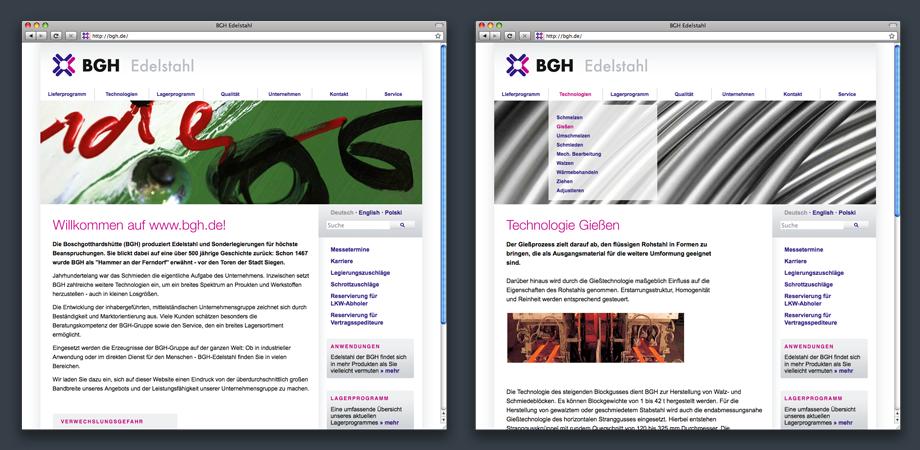 Website – BGH Edelstahl