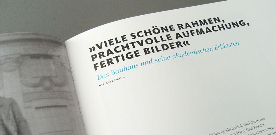 Das Bauhaus kommt aus Weimar – Der Katalog zur Ausstellung – Innenansicht