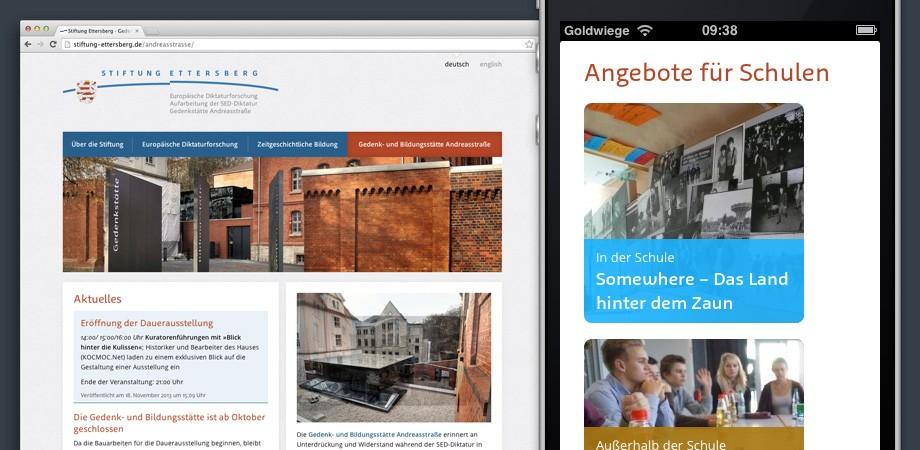 Website Stiftung Ettersberg Weimar