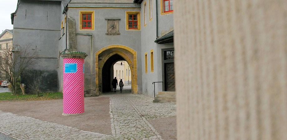 Das Bauhaus kommt aus Weimar Säule