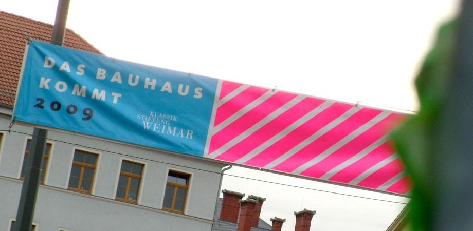 Das Bauhaus kommt aus Weimar Banner