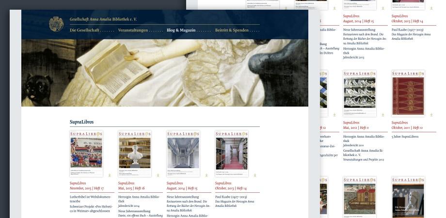 Website »Gesellschaft Anna Amalia Bibliothek e.V.«· SupraLibros Magazin