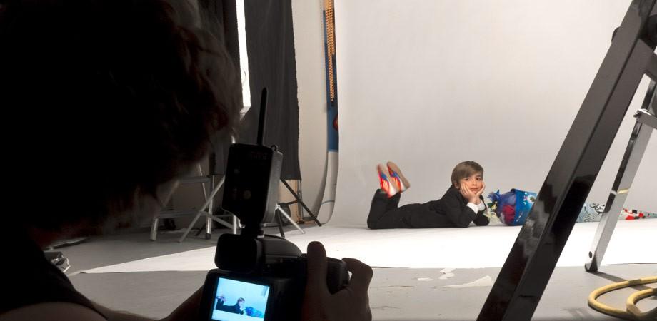 Fotoshooting für die Sparkasse mit Guido Werner – Junge