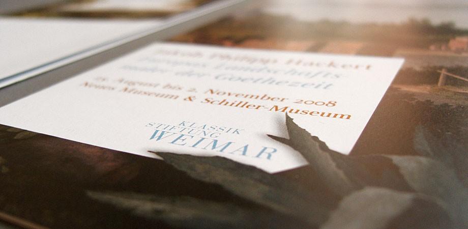 Flyer Jakob Philipp Hackert Ausstellung – Detail