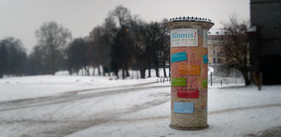 Hinaus! – Ganzsäule Schloss Weimar