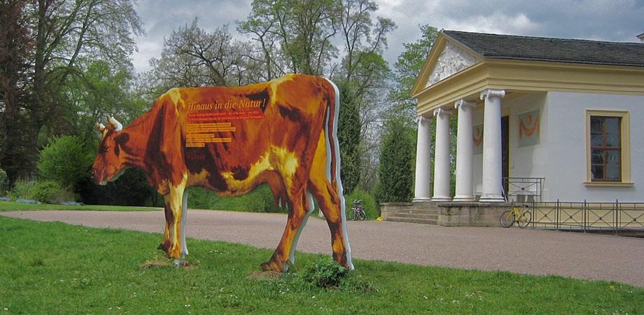 Kuh – freigestellt aus einem Gemälde von Herbst