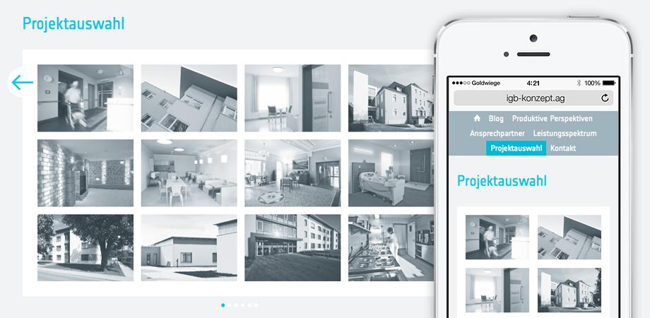 igb KONZEPT Erscheinungsbild Corporate Design Webdesign