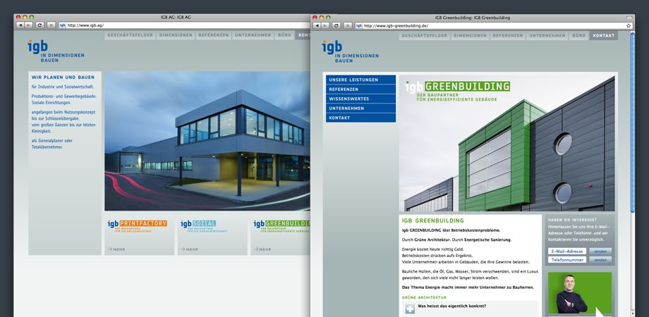 igb AG – Website 2010