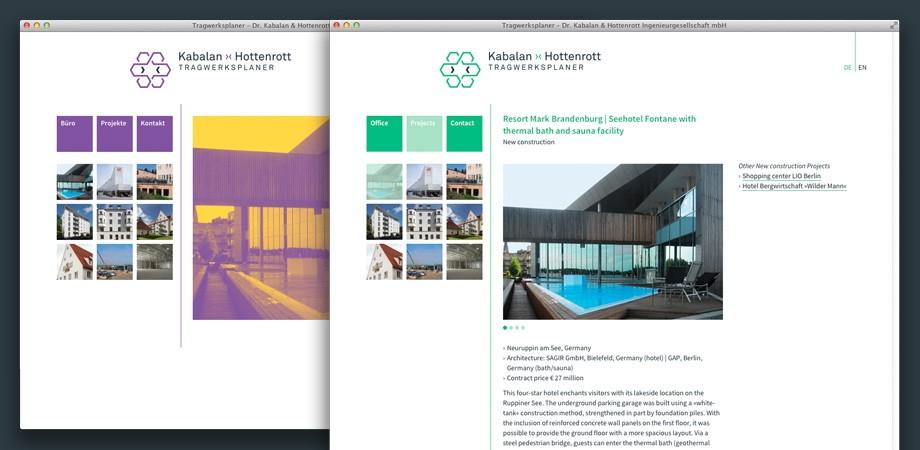 Kabalan ›‹ Hottenrott· Website· Projektansicht