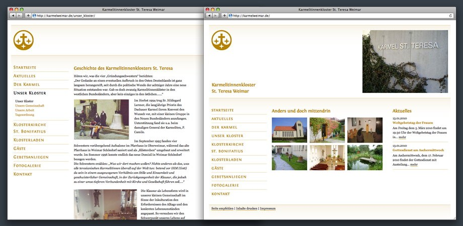 Kloster Karmel – Website