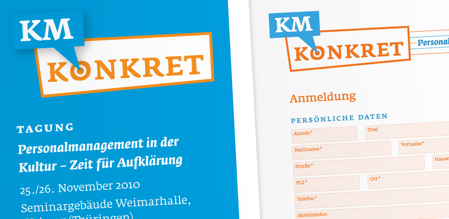 Konferenz KM Konkret – Corporate Design