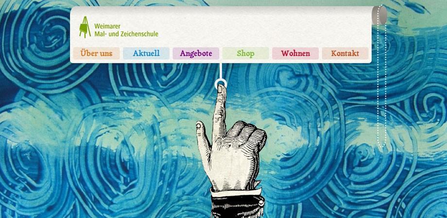Weimarer Mal- und Zeichenschule – Website Startseite 2011
