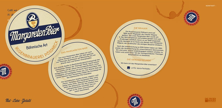 Margareten-Bier aus Pößneck– Website