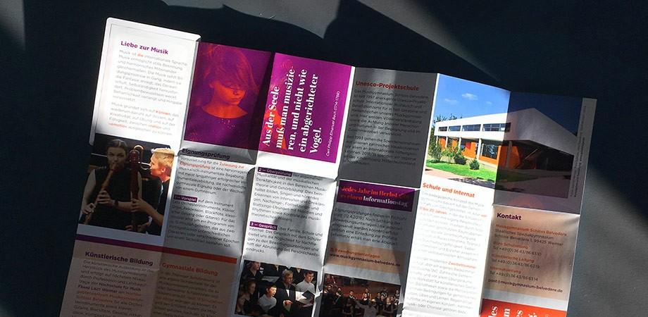 Musikgymnasium Schloss Belvedere · Z-Card Info