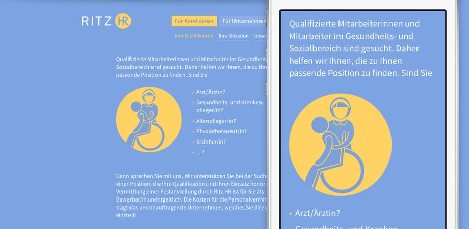 RITZ HR – Erscheinungsbild und Website