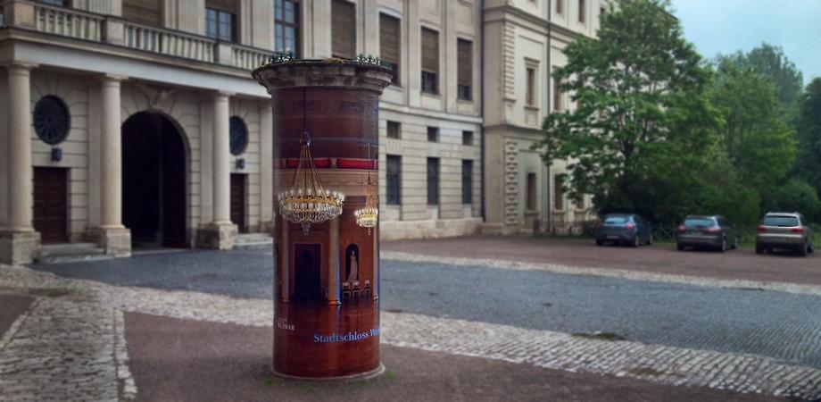 Blick »in« den Festsaal des Weimarer Stadtschlosses
