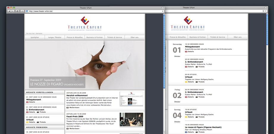 Theater Erfurt – Website