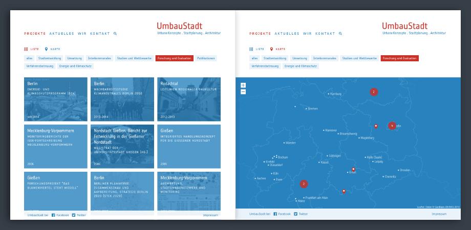 Umbaustadt Website 2015