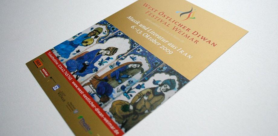 Postkarte – West-östlicher Diwan Festival Weimar