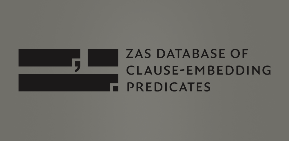 ZAS database of clause-embedding predicates