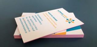 Carte de Visite multicolore